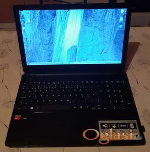 Acer E5-521 15.6/A8-6410 Quad/8gb ram u slotu/640gb hd/R5 GPU/Bat vise h