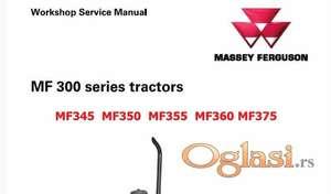 Massey Ferguson 345 - 350 - 355 - 360 -375 radionički priručnik