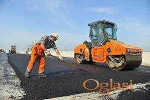 Postavljanje asfaltne podloge, priprema terena za ugradnju drugih vrsta podloga