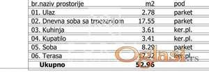 Stan,Beograd,Palilula,Karaburma,Aleksandra Fleminga,53m2,74150 eur+PDV ID#1148