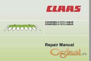 Claas Conspeed 8-75/70 Linear  Claas Conspeed 6-75/70 Linear Radionički priručnik