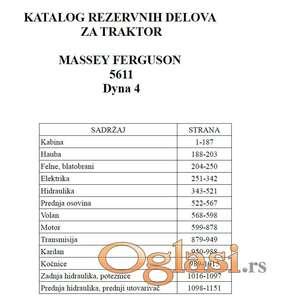 Massey Ferguson 5611 Dyna 4 - Katalog delova