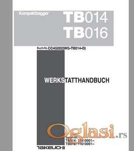 Takeuchi TB 014 - TB 016 Radionički priručnik