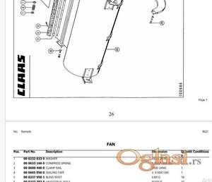 Claas Dominator 86 - katalog delova