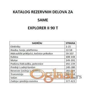 Same Explorer II 90 T - Katalog delova
