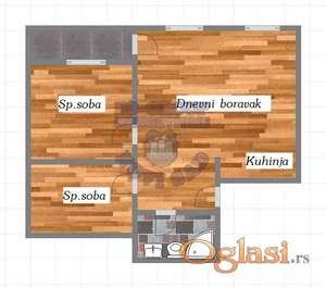 Odličan dvoiposoban stan u izgradnji. Idealnog rasporeda. Veoma funkcionalan