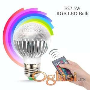 LED E27 RGB 5W