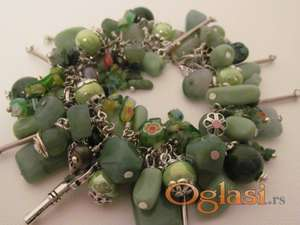 Narukvica charm bracelet - ručni rad NO01