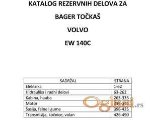Volvo Ew 140C - katalog delova