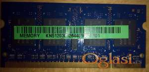 Memorija 512MB 2Rx16 PC2-5300S-555-12-A2