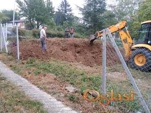 Gradjevinski radovi, potporni zid, izrada-izgradnja potpornih zidova, betoniranje potpornog zida i parking prostora