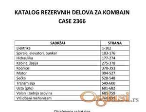 Case 2366 - Katalog delova