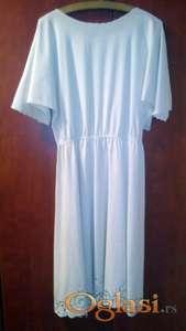 Pamučna haljina, čipka - ručni rad