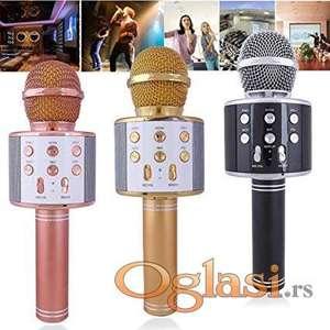 Mikrofon karaoke bluetooth sa zvucnikom ws 858
