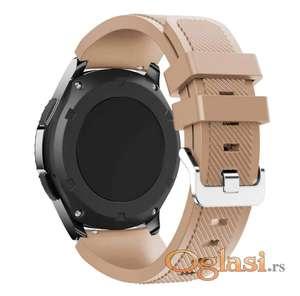 Narukvice za Samsung gear s3, Galaxy Watch, Huawei watch gt braon boja