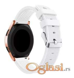 Bela silikonska narukvica 20mm sirine Samsung galaxy watch