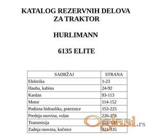 Hurlimann 6135 Elite - Katalog delova