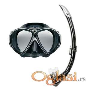 Ronilačka maska set Favola + zephir black
