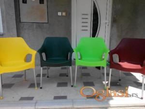 stolice raznih boja