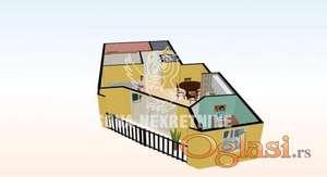 Četvorosoban stan u izgradnji  Subotica, u središnjem delu zgrade ID#1111