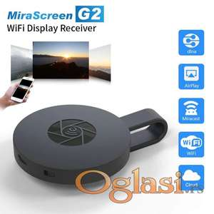 Chromecast 2 MiraScreen G2 TV, Wireless WiFi Display, DLNA, 1080P