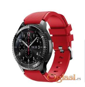 Crvena narukvica Galaxy Watch 46mm Huawei GT2 22mm