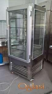 Rashladna vitrina za kolače 70x70x170cm Inox police 53x63cm