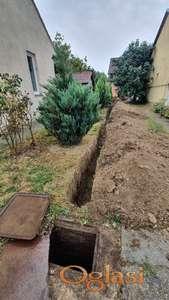 Zemljani radovi, kopanje kanala, temelja....