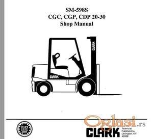 Clark CGC CDP CGP 20-30 viljuškari - Radionički priručnik