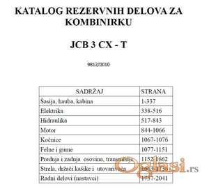 JCB 3CX kombinrika - katalog delova