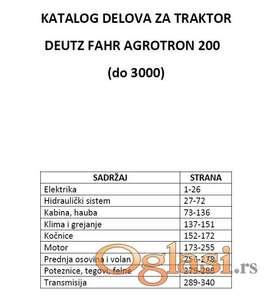 Deutz Fahr Agrotron 200 - Katalog delova