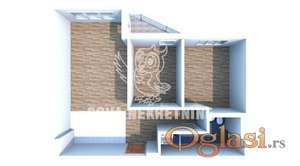 Trosoban stan sa terasom u površini od 56m2 ID#1213