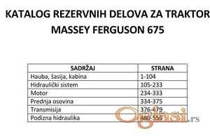 Massey Ferguson 675 - Katalog rezervnih delova