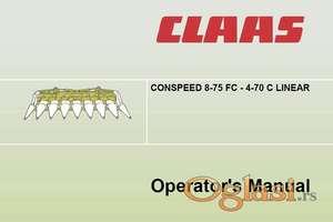 Claas Conspeed FC C Linear - Uputstvo za rukovanje i održavanje