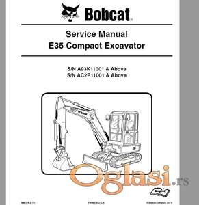 Bobcat E35 - Radionički priručnik