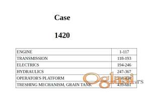 Case 1420 - Katalog delova