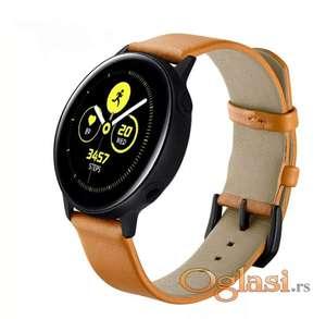 Narukvica Samsung galaxy watch (izrada od koze, braon boja)