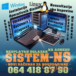 Instaliranje operativnih sistema - Besplatan dolazak na adresu