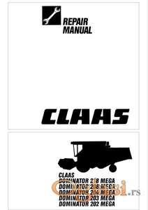 Claas Mega 202 - 203 - 204 - 208 - 218 Radionički priručnik