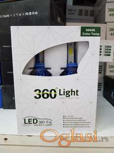 H4 LED COB sijalice 40W sa hlađenjem