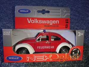 Metalni auto VW Buba - vatrogasno