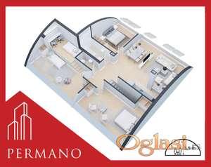 4,0 soban - 104m2 - Detelinara - 1250e/m2