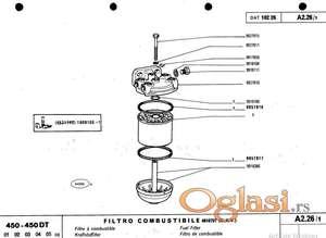 Fiat 450 DT - katalog delova
