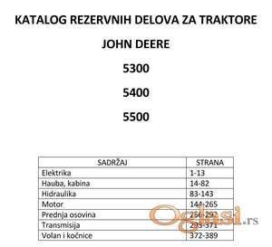 John Deere 5300 - 5400 - 5500 Katalog delova