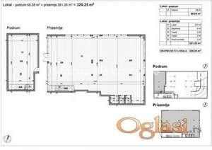 Telep-LOKAL 329 m2 U NOVOGRADNJI  SA ZAKUPCIMA NA DUŽI PERIOD-povrat PDV