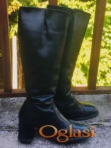 Kozne crne visoke cizme