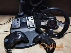 PC Gaming set - Volan, pedale i dzojstici za PC