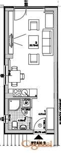 GRBAVICA, 30 m2, 56850 EUR