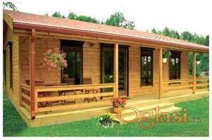 Drvene kuce FUL3 - 7.5x5.5m - soba-kupatil- dnevni boravak