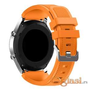 Narandzasta silikonska narukvica Samsung galaxy watch 46 mm